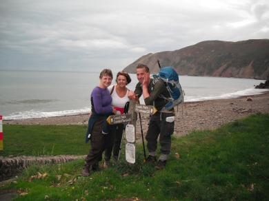 Sue, Colin and I, made it to Lynmouth! 04/10/14